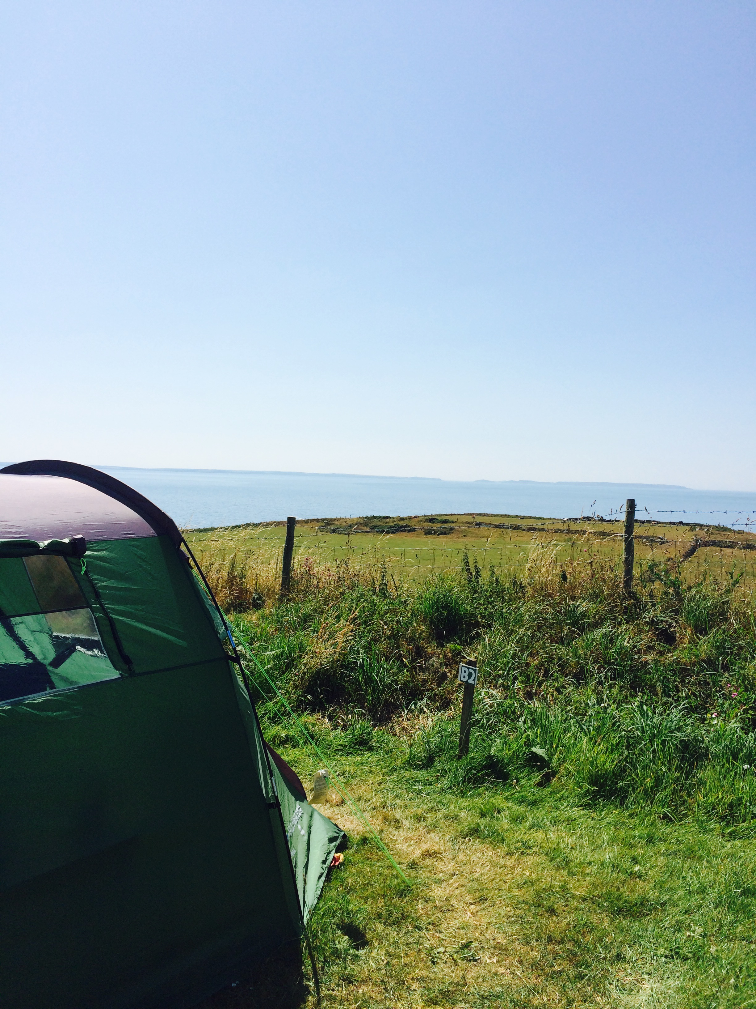Pitch B2, camping fields