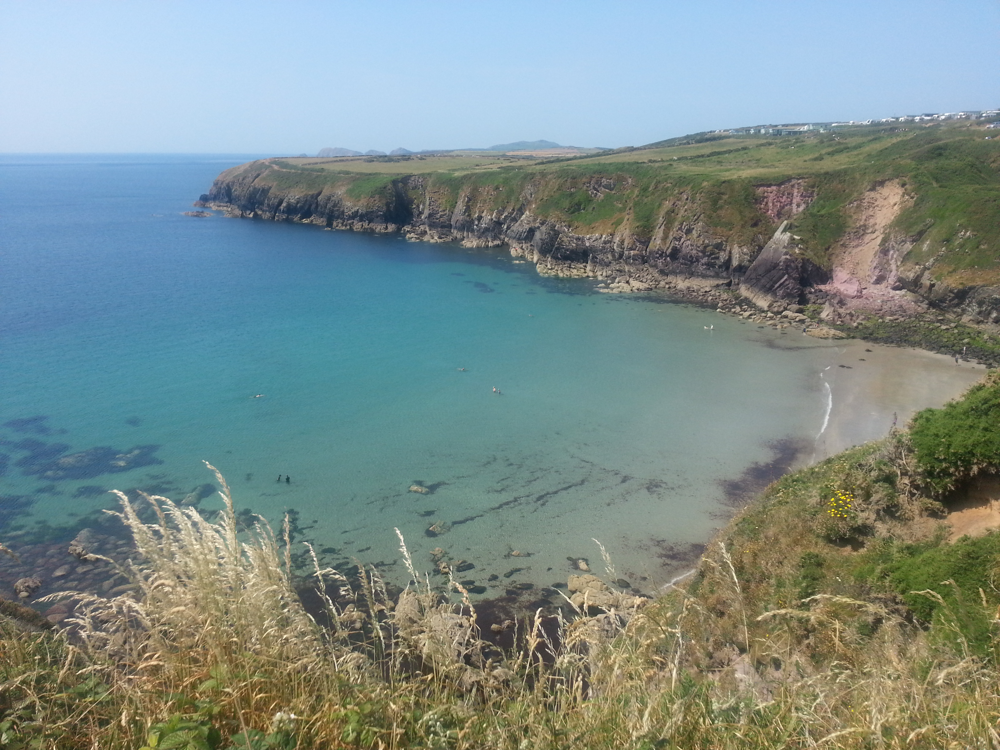 Caerfai Bay and the Park