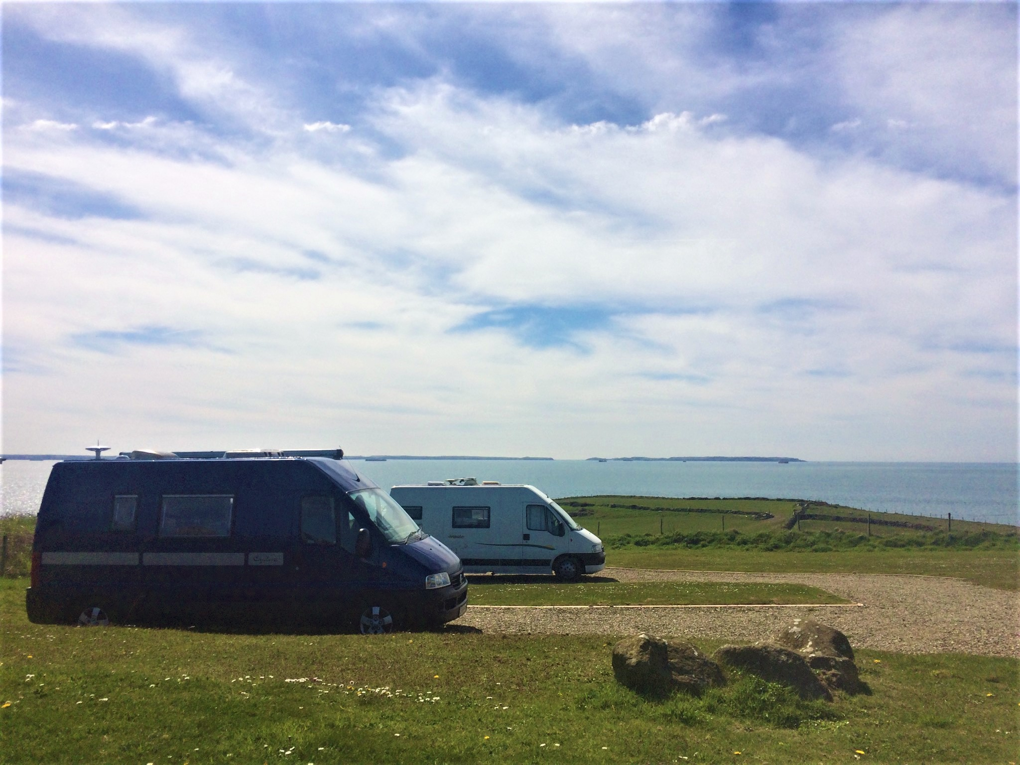 Hardstanding pitches A4 and A5 in camping fields