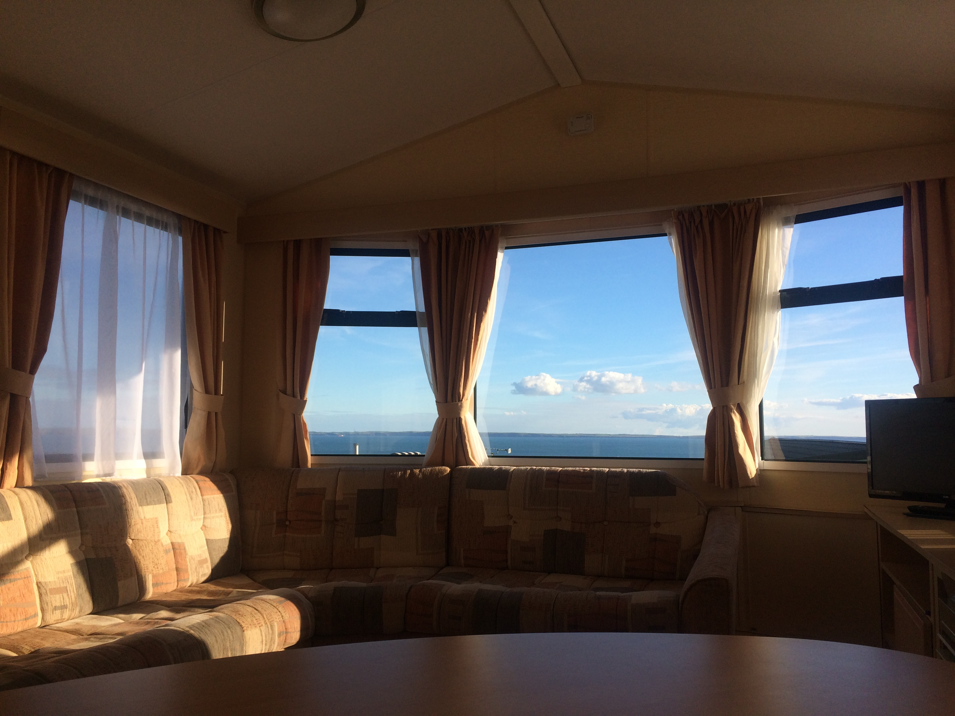 Sea view whilst sitting in living room